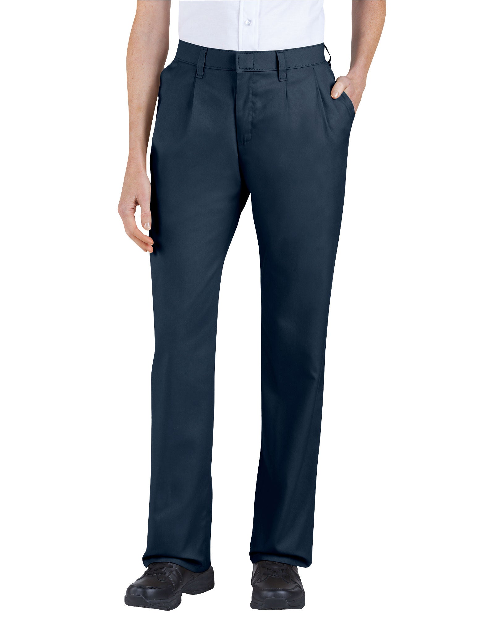 d1d23d65 DIC-FP220 - Dickies Womens Relaxed Fit Straight Leg Pleated Front Pants