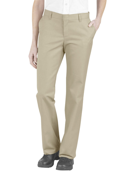 Dickies Womens Relaxed Fit Flat Front Pants