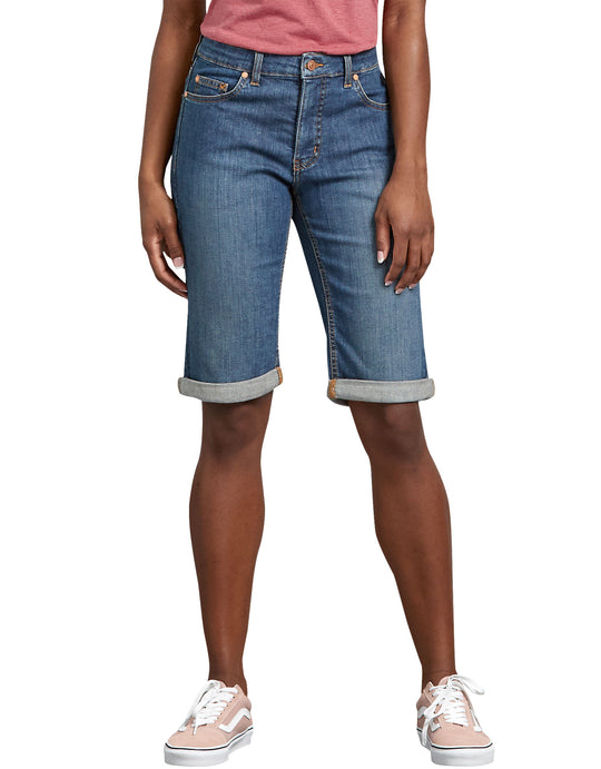 Dickies Womens Perfect Shape Denim Bermuda Shorts