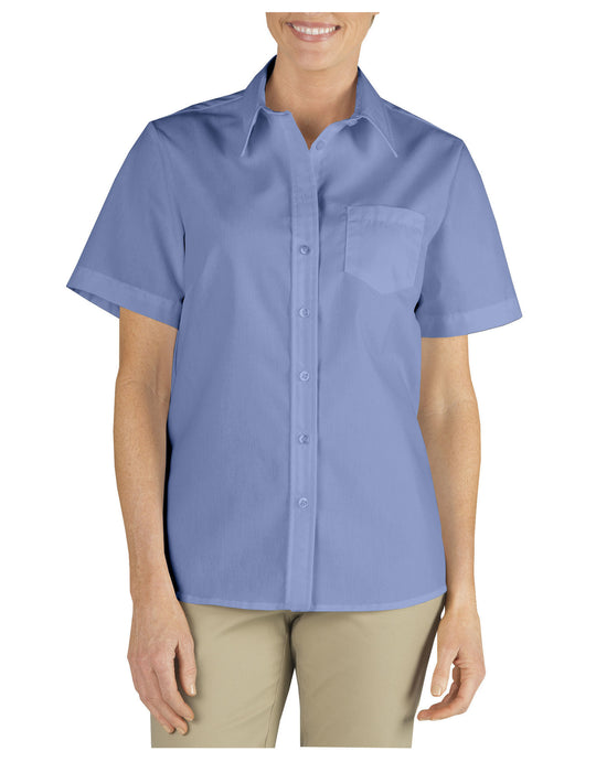 Dickies Womens Short Sleeve Stretch Poplin Shirt