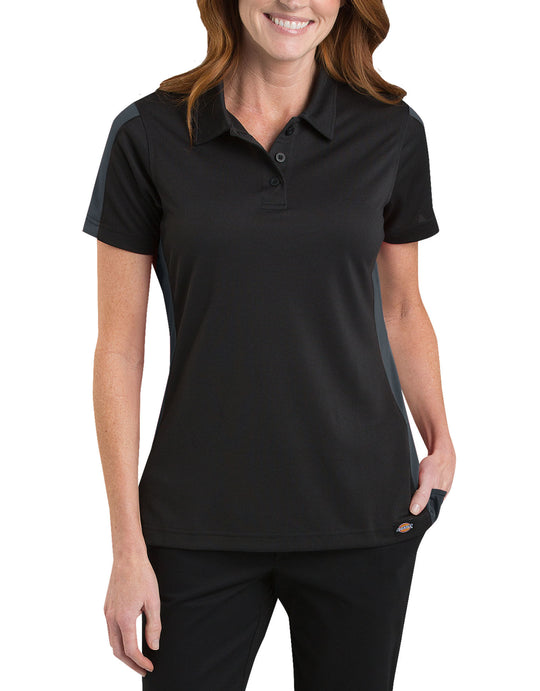 Dickies Womens Industrial Performance Color Block Polo Shirt