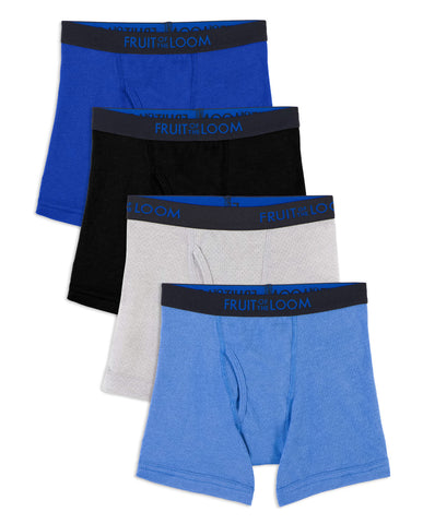Fruit Of The Loom Toddler Boys Breathable Boxer Briefs - 4 Pack