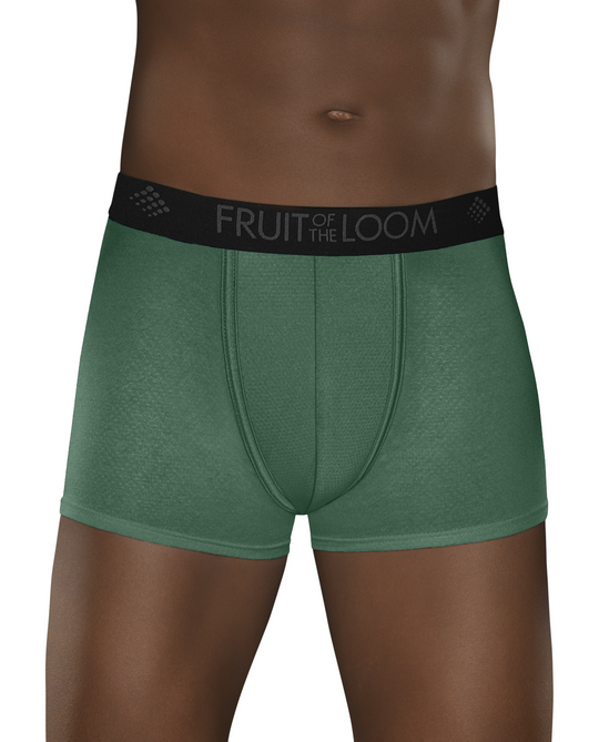 Fruit of the Loom Mens 3-Pack Breathable Lightweight Micro Mesh Short Leg Boxer Briefs
