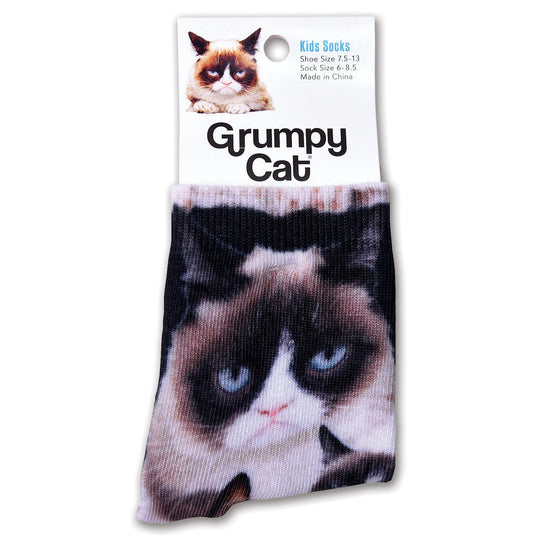 K. Bell Kid`s Grumpy Cat Grumpy Cat Collage Socks