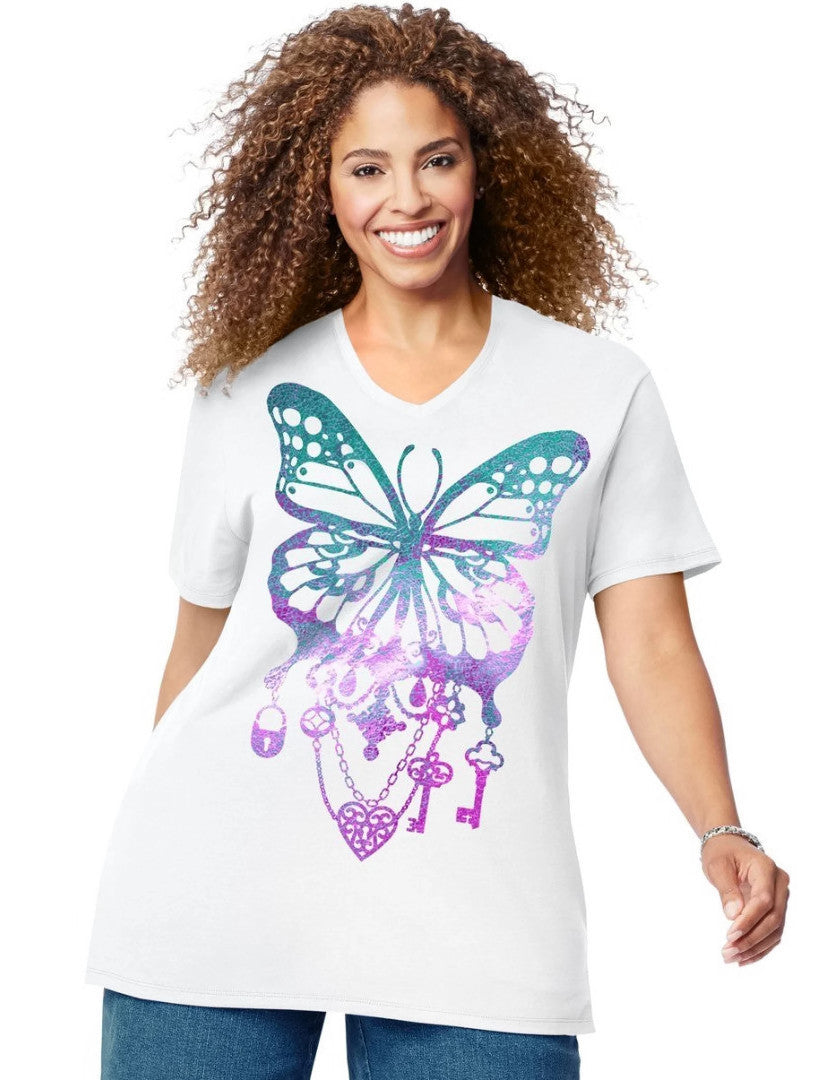 Just My Size Womens Short Sleeve Graphic Tee