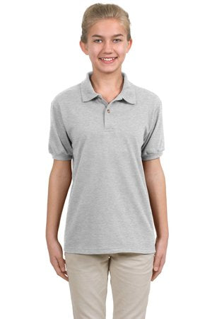 Hanes 5.6 oz Youth Stayclean Blended Jersey Polo