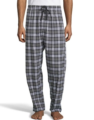 Hanes Mens Woven Stretch Plaid Pant