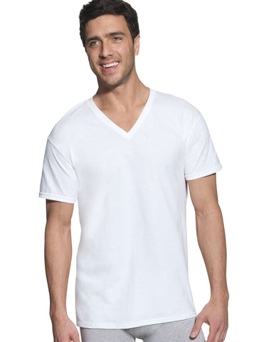 Hanes Classics Men's Traditional Fit ComfortSoft TAGLESS V-Neck Undershirt 3-Pack