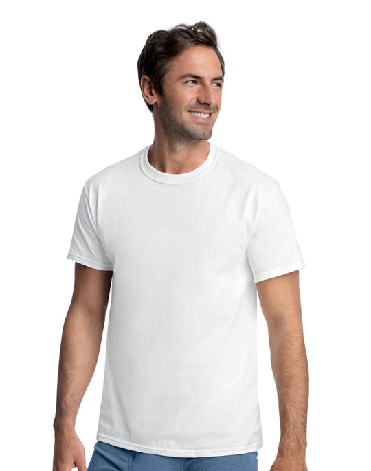 Hanes Classics Men's Tall Man Traditional ComfortSoft TAGLESS Crewneck Undershirt 4-Pack