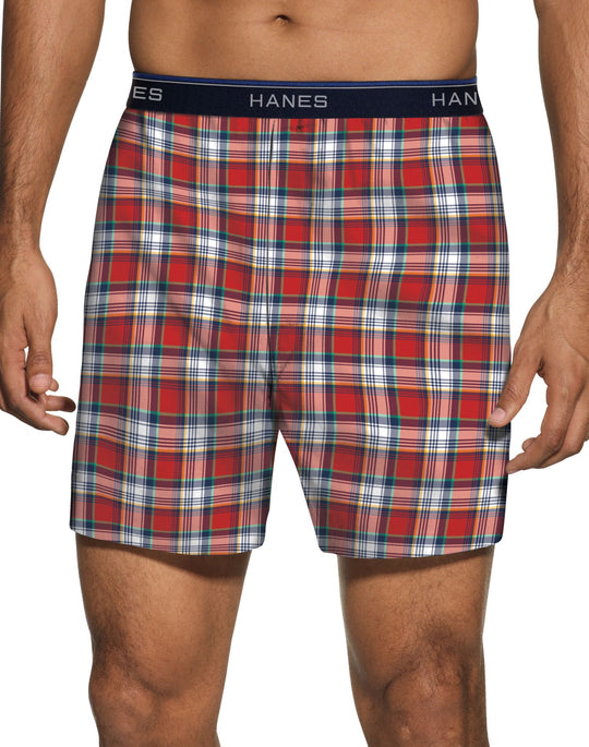 Hanes Men`s ComfortBlend® Woven Boxers with Comfort Flex® Waistband