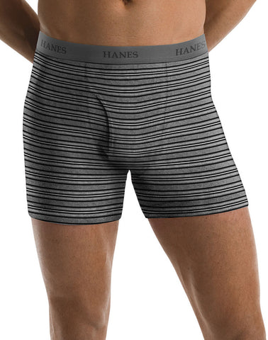 Hanes Men`s TAGLESS® Ultimate Fashion Stripe Boxer Briefs