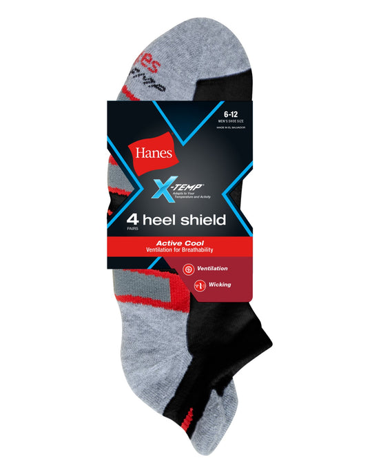 Hanes X-Temp® Men`s Active Cool Heel Shield® Socks