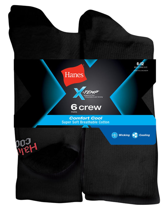 Hanes X-Temp® Comfort Cool® Men`s Crew Socks