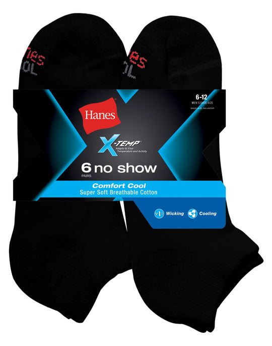 Hanes X-Temp® Comfort Cool® Men`s No Show Socks