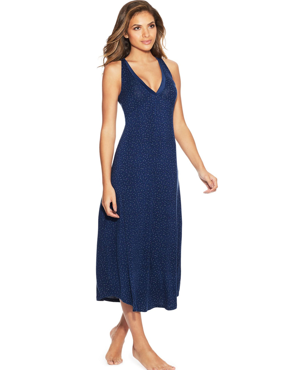 Maidenform Womens V-Neck Lounge Maxi Gown