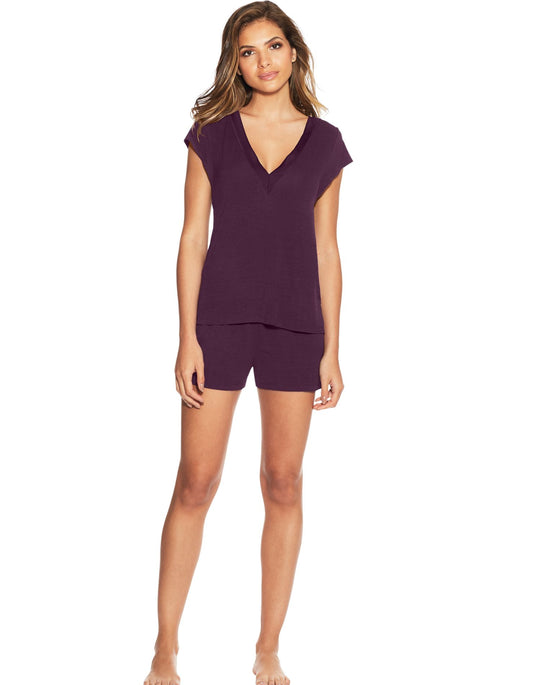 Maidenform Womens V-Neck Shorts PJ Set