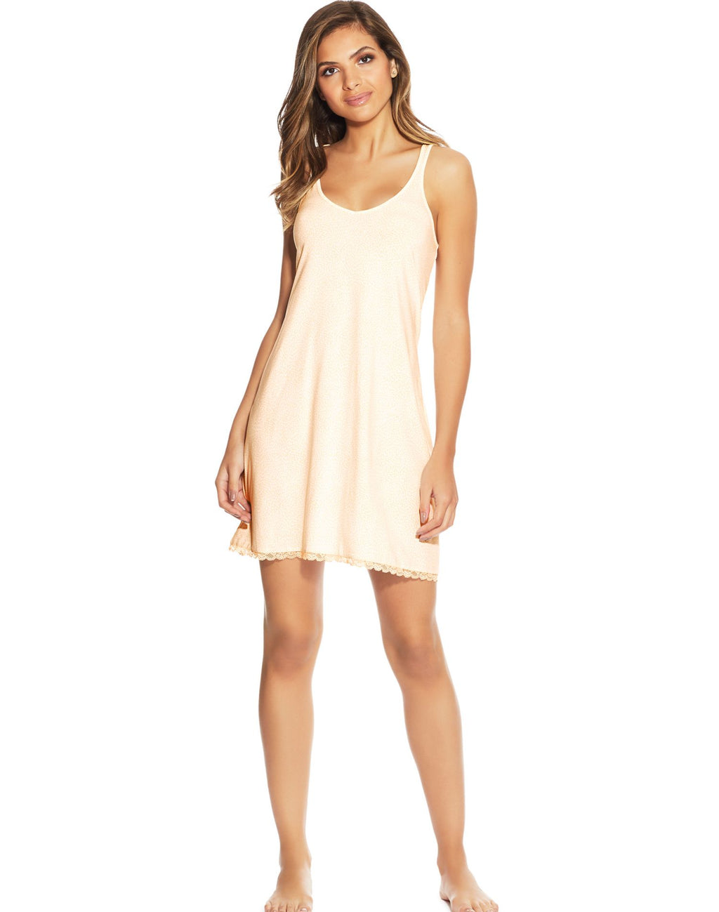 Maidenform Womens Lace Trim Lounge Chemise