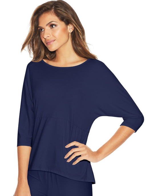 Maidenform Womens Dolman Sleeve Lounge Top