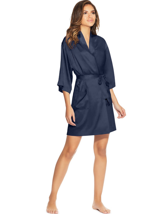 Maidenform Womens Satin Lounge Robe