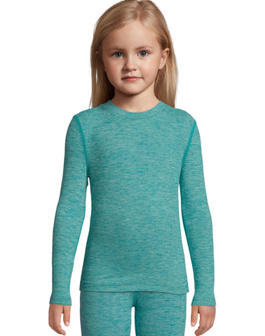 Hanes Girls Space Dye Crewneck