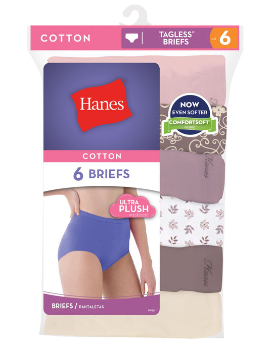 Hanes Cotton Brief Body Tones 6-Pack