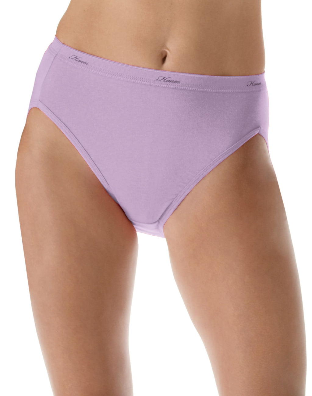 Hanes Womens Cool Comfort Cotton 8-Pack Hi-Cut Panties