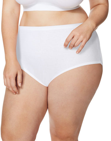 Just My Size Women`s Cool Comfort 5-Pack High-Waist Cotton Briefs