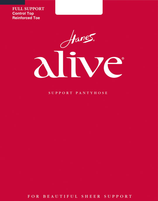 Hanes Alive Control Top Reinforced Toe Pantyhose 1 Pair