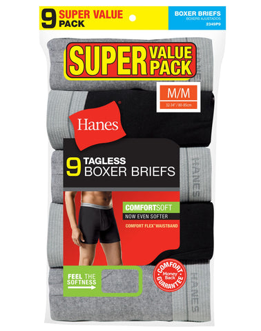 Hanes Mens Super Value 9-Pack ComfortSoft Boxer Briefs