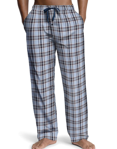 Hanes Men`s Logo Woven Plaid Pants