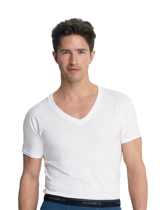 Hanes Men's ComfortBlend Slim Fit V-Neck