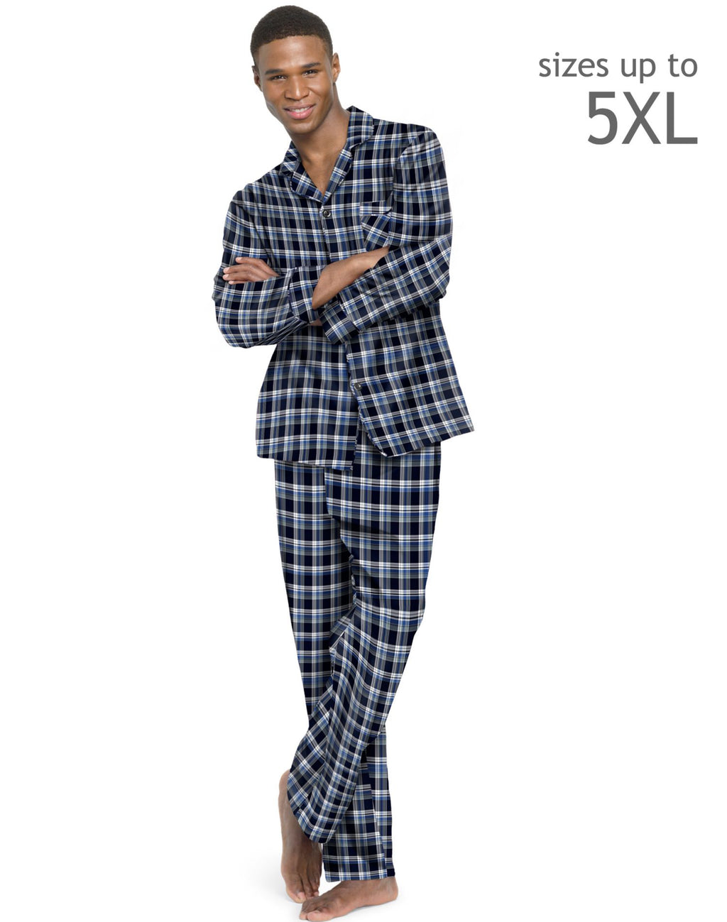 Hanes Men`s Flannel Pajamas