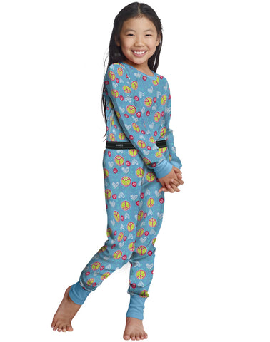 Hanes Girls' X-Temp Printed Thermal Set