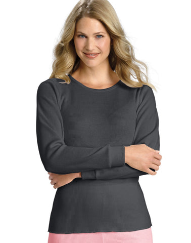 Hanes Women`s X-Temp Thermal Crew