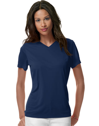 Hanes Women`s Cool DRI V-Neck T-Shirt