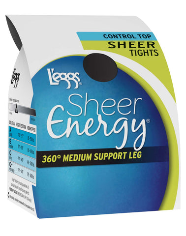 L`eggs Sheer Energy Women`s Control Top Sheer Tight - As Seen On TV