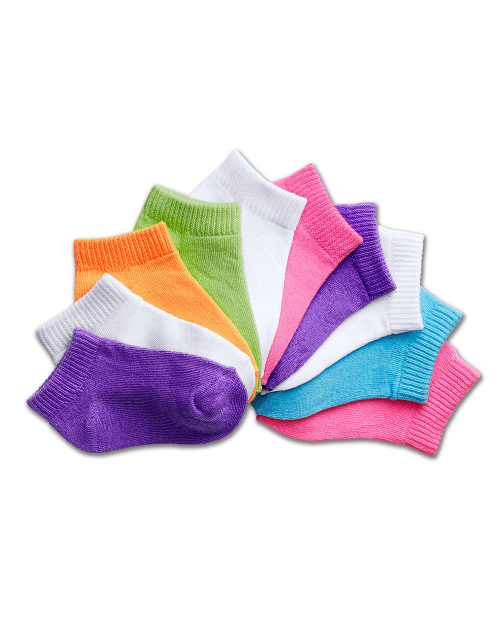Hanes EZ Sort® Girls` Toddler Low-Cut Socks