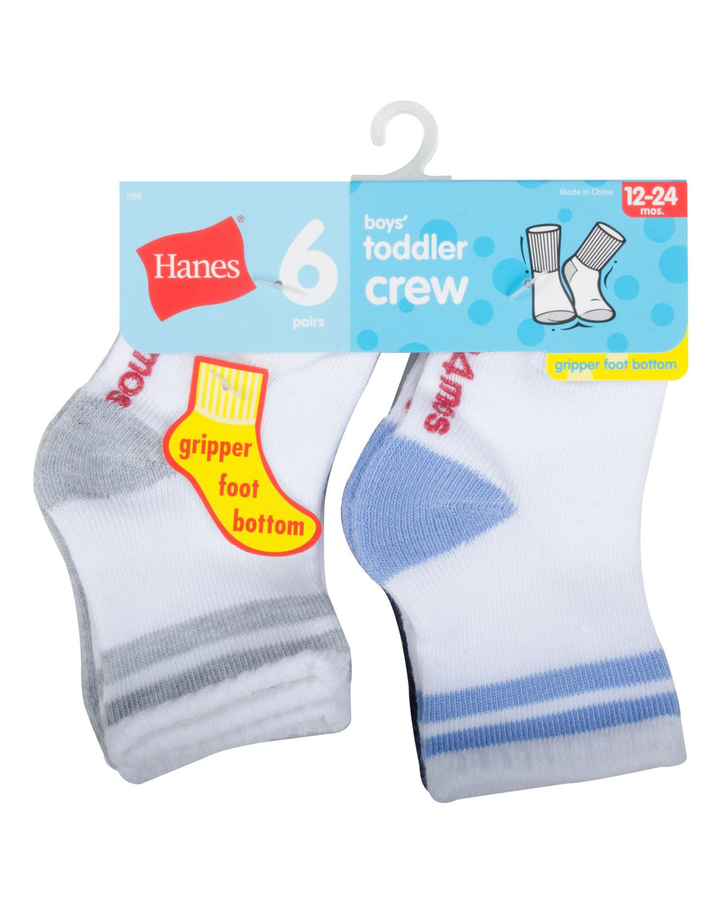 Hanes Infant Boys 6-Pack Crew Socks