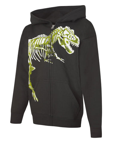 Hanes Boys` EcoSmart Graphic Full-Zip Hoodie Sweatshirt