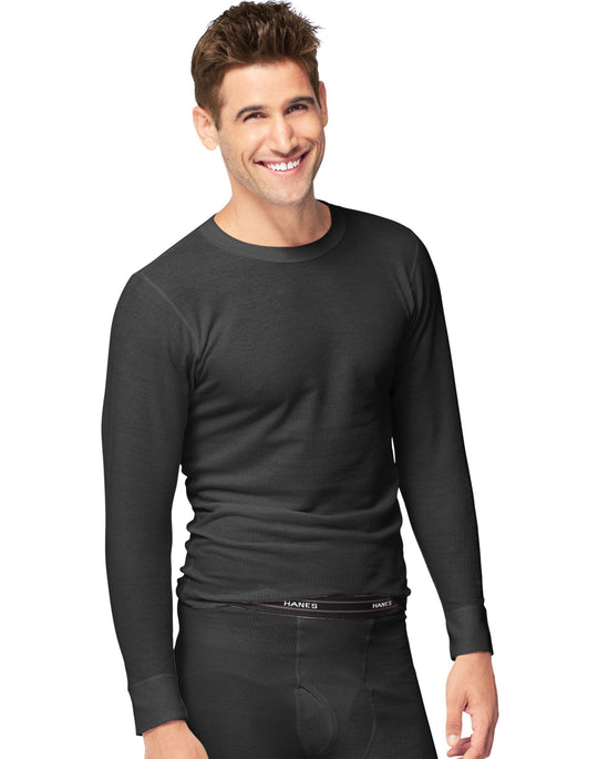 Hanes X-Temp Men`s Thermal Crew