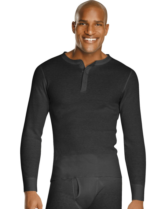 Hanes X-Temp Men`s Thermal Henley