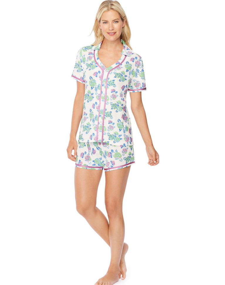 Hanes Ultimate™ Womens Button Top/Shorts Sleep Set
