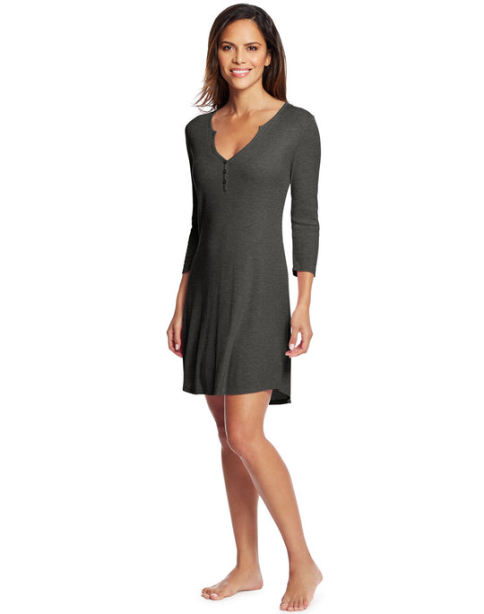 Maidenform Womens Henley Sleepshirt
