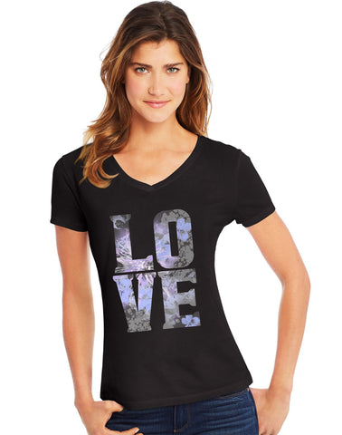 Hanes Womens Short Sleeve V-Neck Tee