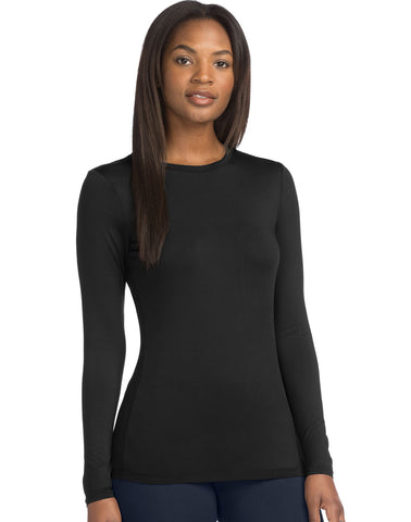 Warm & Cuddly by Cuddl Duds Womens Stretch Micro Crew