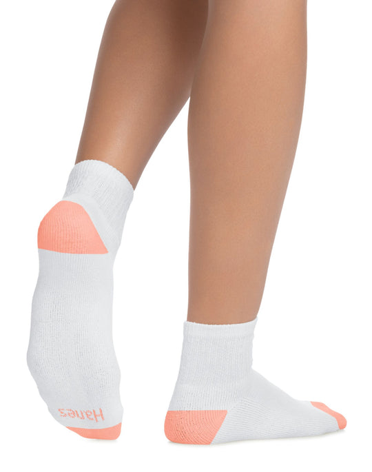 Hanes Womens Cool Comfort Ankle Socks 6-Pack