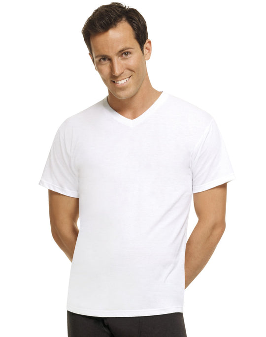 Hanes Perfect T Men`s 3-Pack ComfortBlend V-Neck Undershirt