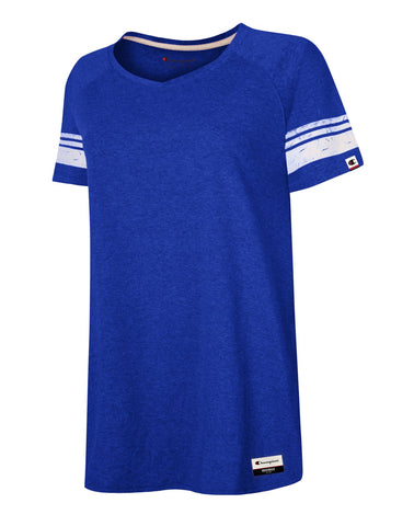 Champion Womens Authentic Originals Triblend Short Sleeve Varsity T-shirt