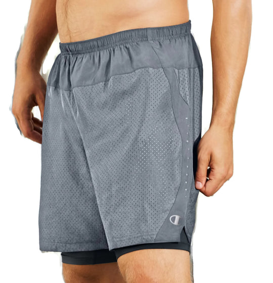 Champion Cool Control Men's Run Shorts with Compression Liner