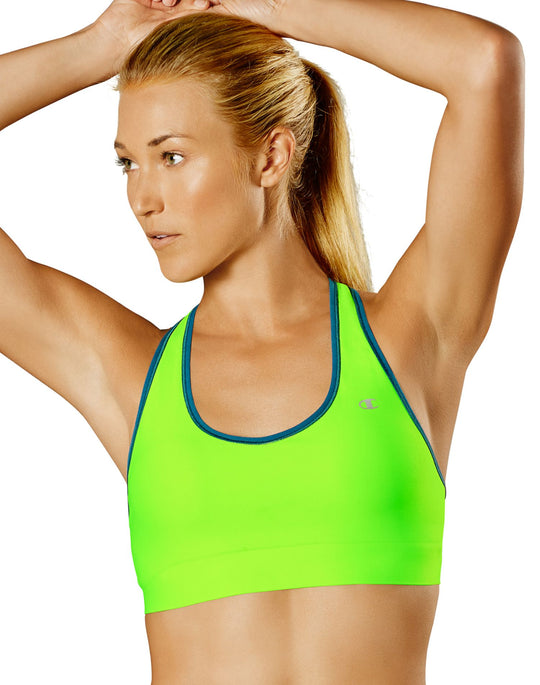 Champion Absolute Workout Women`s Racerback Sports Bra with SmoothTec™ Band